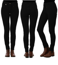 Ladies Classic Plain Black Jodhpurs