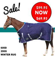 Tough 600 Denier 200Grams Polyfilled Lite Navy Winter Horse Rug