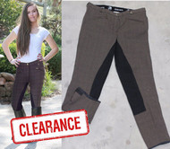Brown -Check- Breech-Black- Suede -Full- Seat