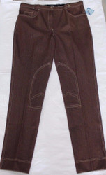 Brown Denim Jodhpur Breech