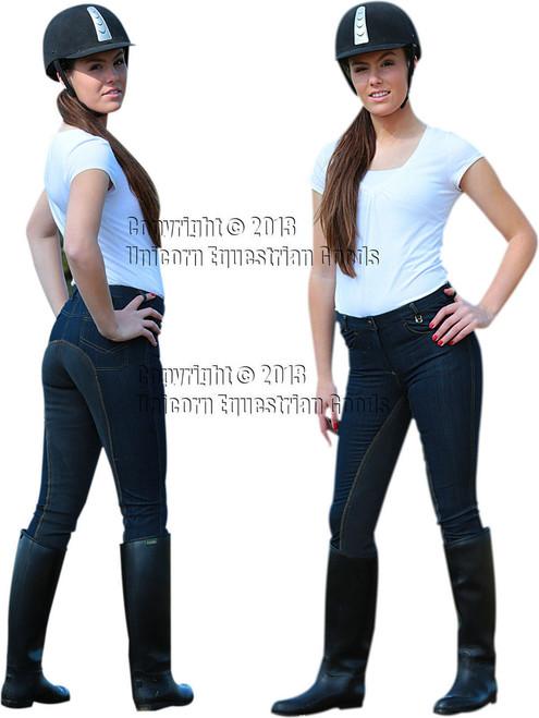 Smart Denim Navy Full Seat Professional Breeches