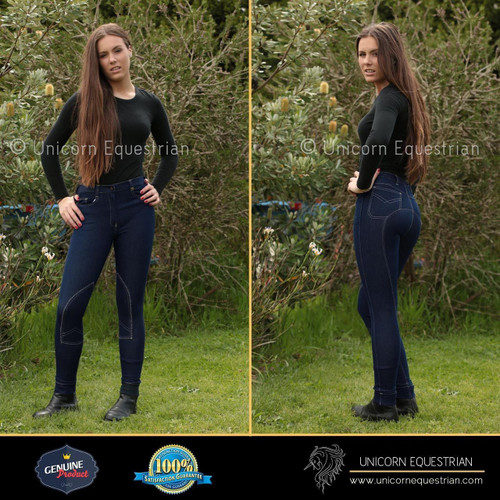 Smart Denim Navy Jodhpur Breech