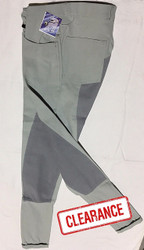 Grey Microfibre Full Seat Jodhpurs Breech