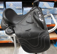 Australian Fully Mounted Synthetic Stock Endurance Trail Saddle With Horn