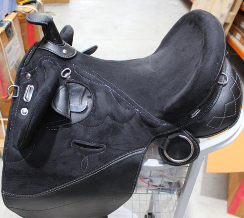 Fully Mounted Australian Synthetic Stock Endurance Trail Saddle With Horn