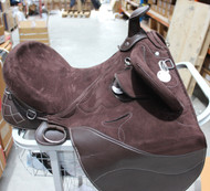 Fully Mounted Brown Australian Suede Stock Endurance Trail Saddle With Horn