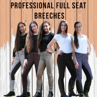 Professional Check Breeches  W/ Matching Suede Full Seat