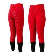 Red Silicon Full Seat Ladies Horse Riding Jodhpurs