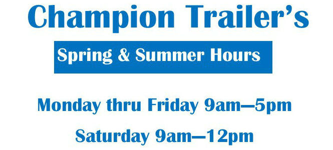 New Spring & Summer Hours