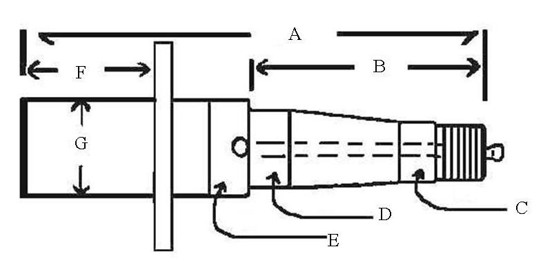 "1 3/8 X 1 1/16"" Spindle Lube Trailer Spindle Diagram"