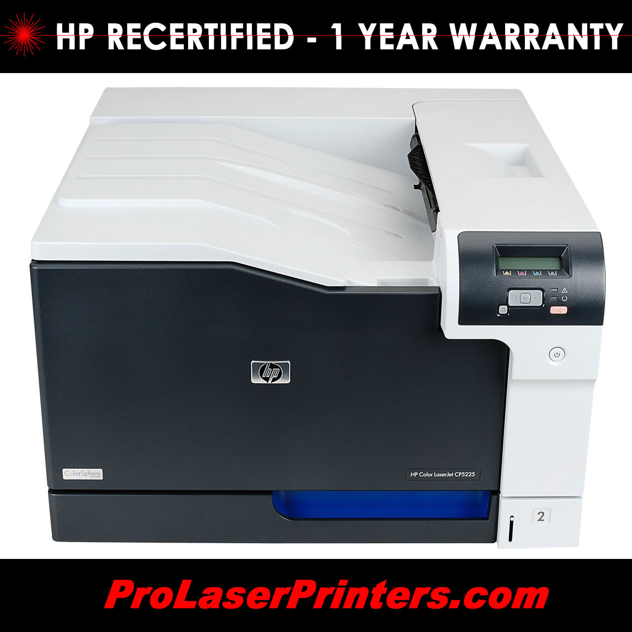 hp recertified color laserjet cp5225n premium laser printer ce711a p rh prolaserprinters com HP Color Copy Machines HP Color Printers for Printing Plans