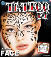 TATTOO- CHEETAH FACE FX