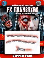 ZIPPER FACE 3D FX TRANSFERS