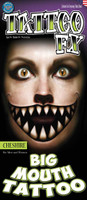 Tinsley transfers Cheshire big mouth tattoo fx