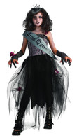 girls gothic prom queen costume