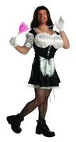Busty dusty French maid funny men's costume