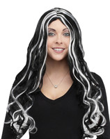 Long black Halloween wig