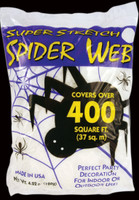 Spider web Halloween decoration