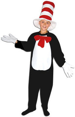 Cat in the hat childrens costume