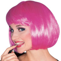 HOT PINK costume wig