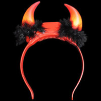 Halloween light up devil horns
