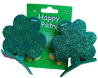 St patricks day hair clip
