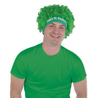 St Patricks day green wig