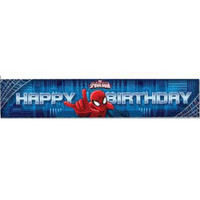 Spiderman party banner