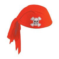 PIRATE SCARF HAT RED