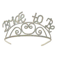 BRIDE TO BE GLITTERED METAL TIARA