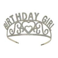 BIRTHDAY GIRL GLITTERED METAL TIARA