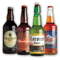 GLOW IIN THE DARK BEER BOTTLE LABELS