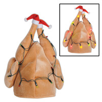 LIGHT UP CHRISTMAS TURKEY HAT