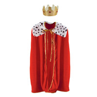 CHILDS ROYAL ROBE WITH CROWN