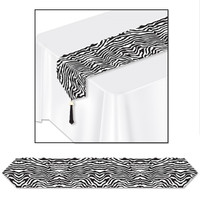ZEBRA PRINT TABLE RUNNER