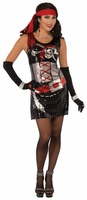 SEQUIN PIRATE COSTUME MED-LGE