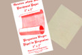 "Genuine Sheepskin Parchment Paper 2"" x 2"""