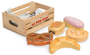 honeybake bakers basket bread and pretzels pretend play food