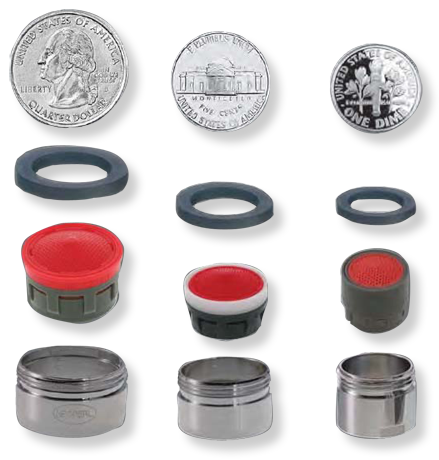 parts of a faucet aerator. For standard  non cache aerators The Faucet Aerator Guide Streams and Styles