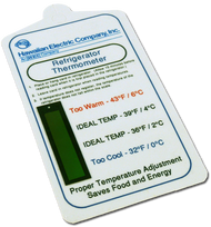 Refrigerator Temperature Gauge-card for Food Safety Custom Imprint