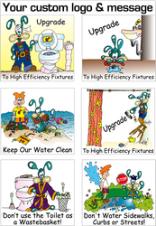 Splash the Water Dog Conservation Stickers | Series 2 | Fun Educational product for all ages!