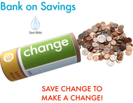 Bank on Savings! Custom Water Bank Saving Eco-Kit| CHANGE | water conservation Tip Saver Bank