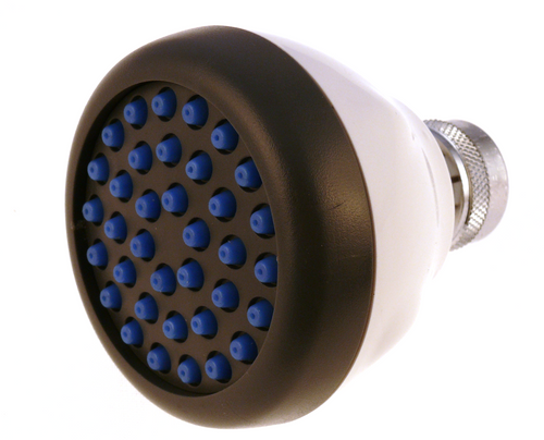 1.5 gpm white spray clean shower head, great for hard water areas.