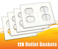 128 Gasket Covers, Electrical Outlet Draft Stopper Foam Gaskets