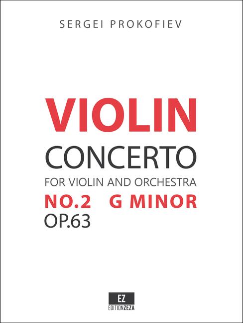 Score & Orchestral parts for Prokofiev: Violin Concerto No.2 Op.63