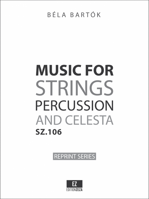 Bartok Music for Strings, Percussion and Celesta - set orchestra parts