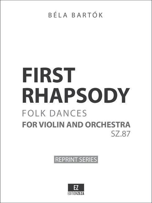First Rhapsody for Violin and Orchestra SZ.87 sheet music, orchestral parts