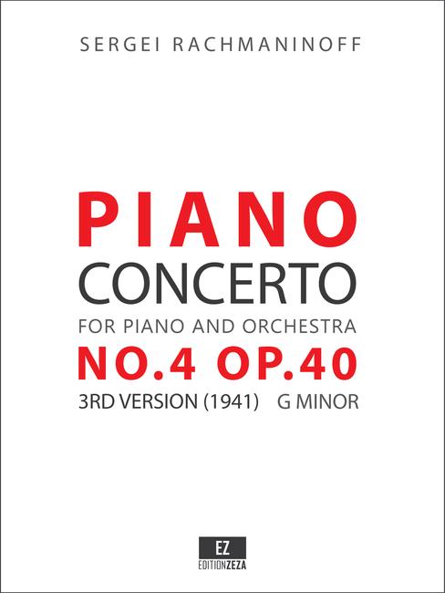 Rachmaninov Piano Concerto No.4 Op.40 3rd version (1941) - Score and Parts