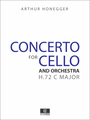 Honegger Cello Concerto, Score and Orchestral Parts