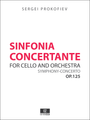 Prokofiev Sinfonia Concertante for Cello and Orchestra Op.125, Score and set of parts
